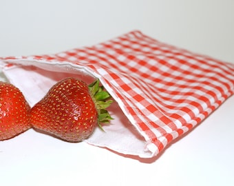 Reusable Sandwich Size Bag. RECYCLED FABRIC. Ready to ship.