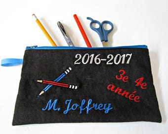Personalized pencil case / pencil box custom / made to order
