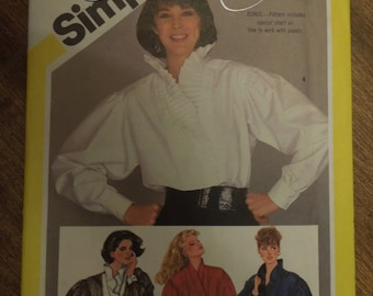 Siimplicity 6124, size 8, blouse, shirt, UNCUT sewing pattern, pullover style, craft supplies