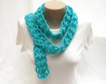 PDF Tutorial  Pattern,Tutorial Video, Crochet Scarf, Puff Stitch Scarf. Headband