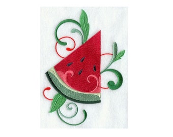Fresh Watermelon - I Will Machine Embroider This Design On To Your Custom Item