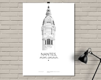 Displays Nantes / place Unique Nantes / printed on A3 210 grams / NANTES, my love.