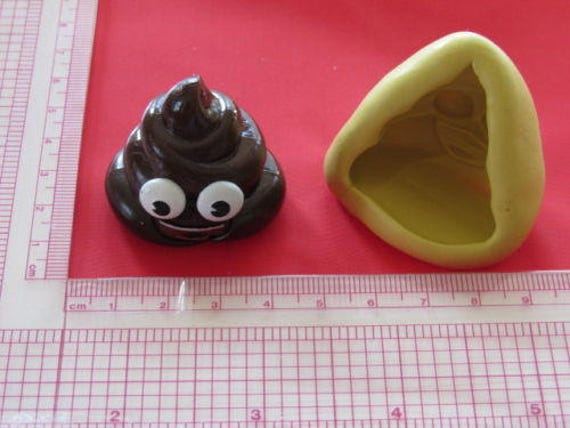 Poop Emoji Silicone Mold Chocolate Candy Crafts Soap Crayon