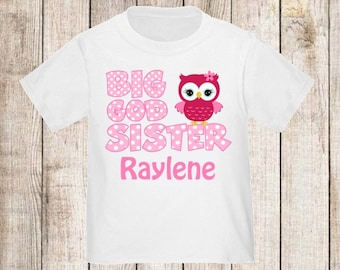 Big God Sister Owl Personalized T Shirt