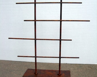 Jewelry Display Stand / Rack Rustic Metal Finish