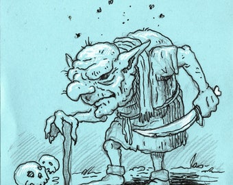 Elderly Goblin post-it
