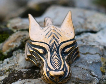 WARG Viking Wolf Head Pendant Norse Jewelry Jewellery Charm Vikings Pagan Wolves Wulf Vuk Werewolf Wildernes Howling Canis Lupus Bronze