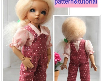 Overall PATTERN & TUTORIAL for YoSD BJD dolls - LittleFee by Fairyland