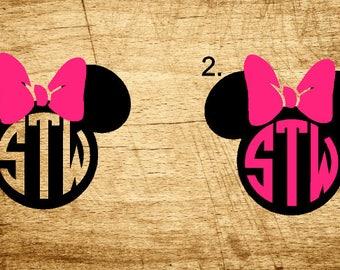 Girly Mouse Monogram
