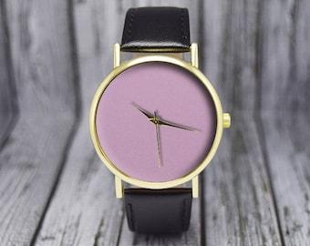 Pink Face | Minimalist Watch | Leather Watch | Women's Watch | Ladies Watch | Gift for Her | Birthday | Wedding | Gift Ideas | Accessories