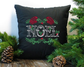 Noel Christmas Throw Pillow, Pillow Cover, Decorative Pillow, Pillow Case