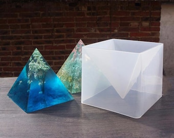 1 Set Large size pyramid resin Silicone Mold ,epoxy resin mold 10*15cm