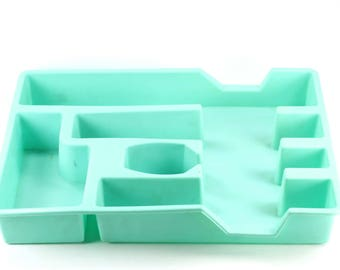 Vintage Aqua Silverware Tray for the Kitchen Drawer Loma Industries