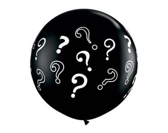 36 INCH Question Mark, Baby Reveal, Latex Balloon - Hanging Decorations, Party Decor, Supplies, 3 Foot