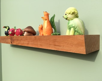 Floating shelf, Modern. display, trophy, souvenir, light Cherry. Handcrafted.