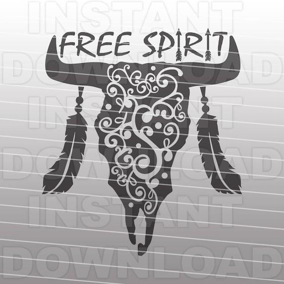 Western Svg File Free Spirit Svg File Cow Skull Svg File