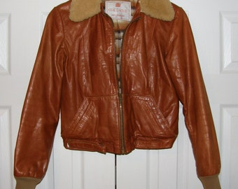 Vintage Crae Carlyle San Francisco Size 9 Leather Jacket, Ladies Small Medium