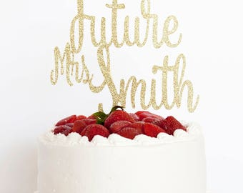 Personalized Bridal Shower Cake Topper