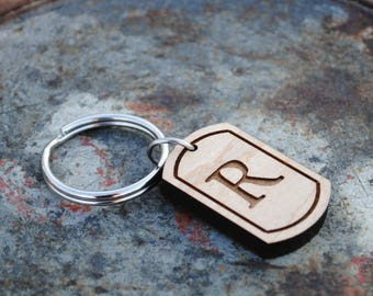 Buchstabe R erste Schlüsselanhänger