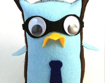 Doctor Who Doctor Hoot Owl Stuffie Plush Doll - Ten David Tennant
