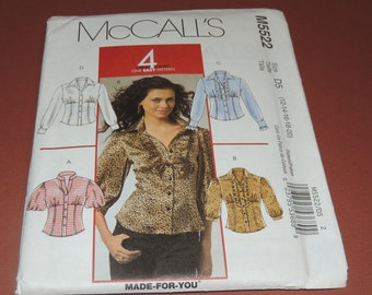 Uncut McCalls 5522 12-20 Blouse Pattern