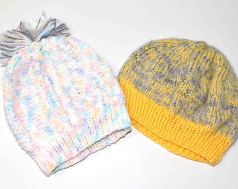 Hand Knit Beanie Toddler or Child