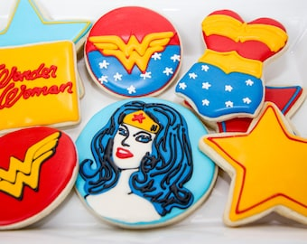 One Dozen Wonder Woman Cookies
