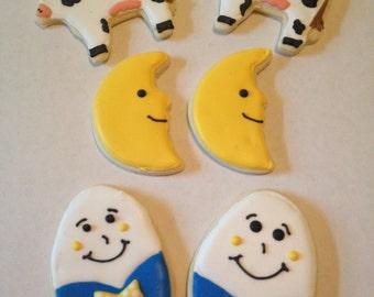 Nursery Rhyme Sugar Cookies