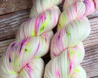 Ines - Blossoms - Hand Dyed Yarn - 100% Super Wash Merino