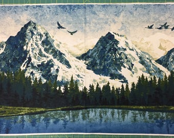 Mountain Wilderness Panel by Northcott Fabric - 100% Cotton Fabric