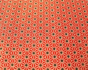 Graphic fabric coupon 50 x 70 cm red and white