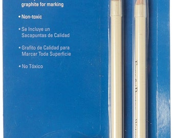 Fons and Porter Water Soluble Pencils and Sharpener, Graphite