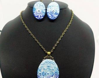 Mandala Delight Necklace and Earrings Set