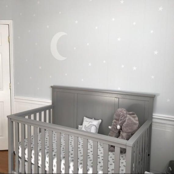 lune et toiles autocollant sticker mural de chambre de b b. Black Bedroom Furniture Sets. Home Design Ideas