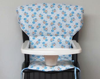 Eddie Bauer Newport or safety 1st wooden highchair cover replacement pad, baby feeding chair pad, kids nursery furniture, turtles