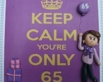 Personalised 65th Birthday card by Hot Dough Creations
