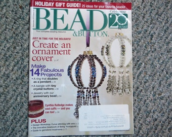 Bead & Button Magazine, December 2013, bead, button, magazine, sale, reduced