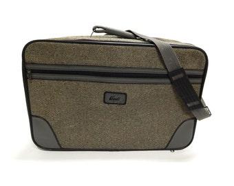 Vintage Tweed Carry-On Luggage