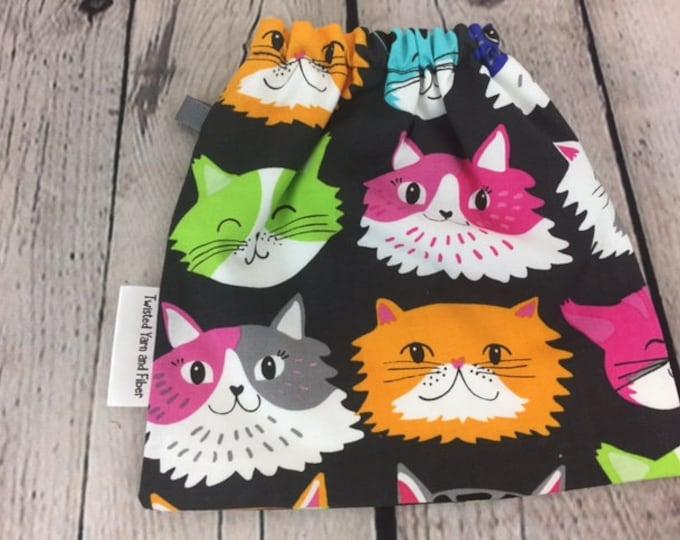 Cats, Yarn Ball bag, Yarn Bowl, Yarn Holder