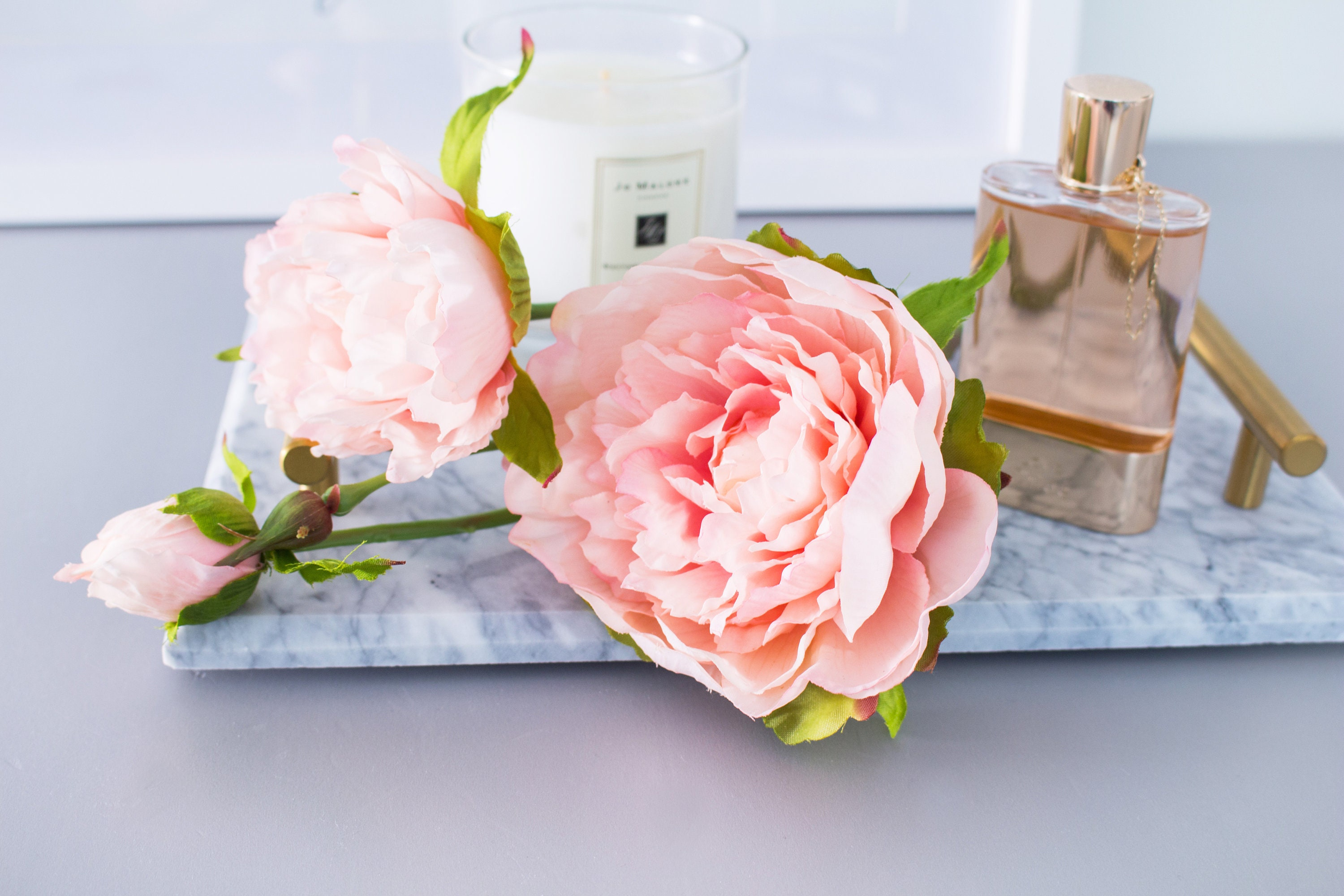 1pc Peach Pink Peony Peonies Real Touch Silk Flower Silk Flowers for ...