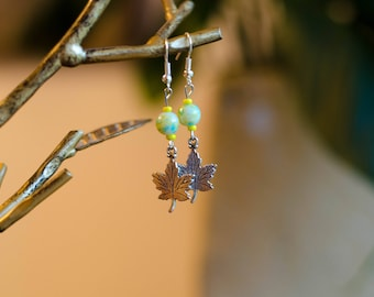 Maple Leaf Charm with Spring Hues