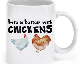 Chicken 11oz Coffee Mug, Tea Mug - Chickens, Roosters, Hens