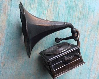 Vintage Miniature Phonograph Pencil Sharpener