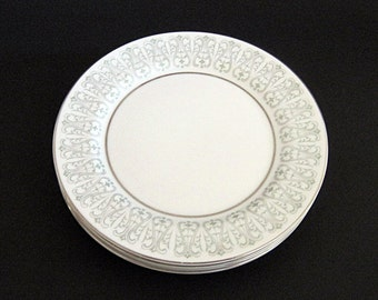 Vintage Mikasa Safford Bread and Butter Plates Set of 4 Fine China