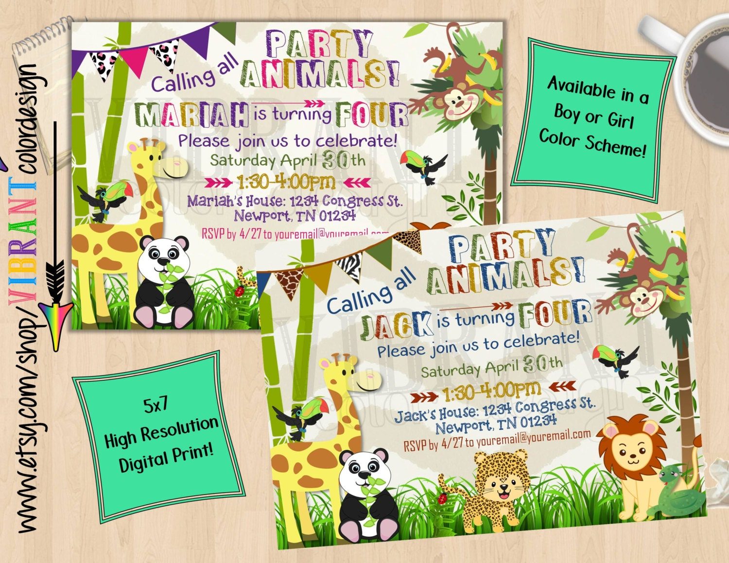 jungle theme birthday invitations - Ecza.solinf.co