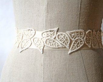 Ivory Lace Sash, Bridal Sash, Sample Sale, Wedding Belt