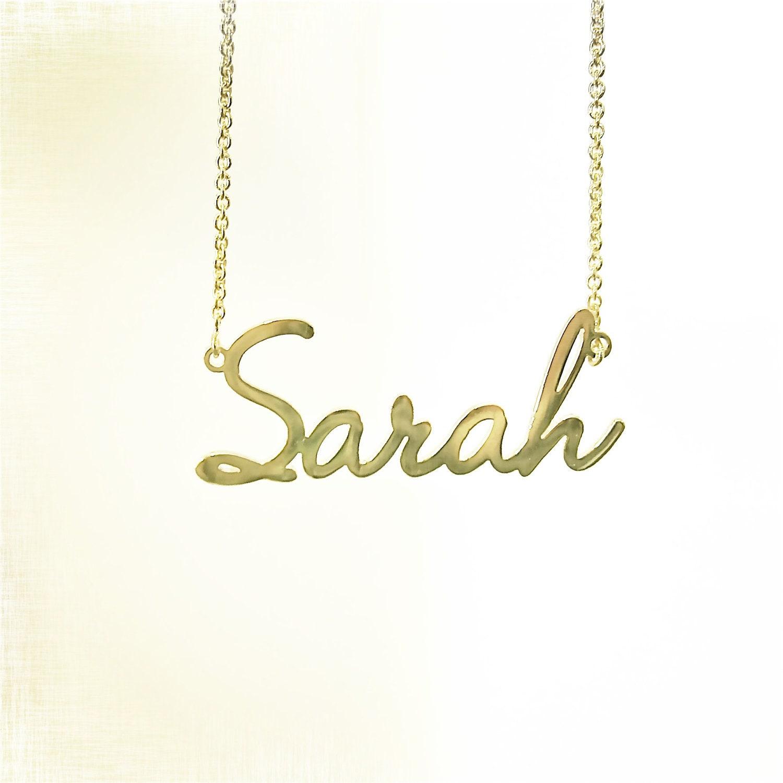 14k gold modern nameplate necklace zoom aloadofball Images