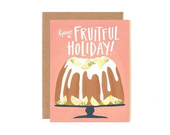 Have a Fruitful Holiday Illustrated Card // 1canoe2