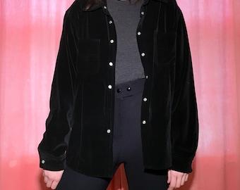 90s Black Velvet Jacket