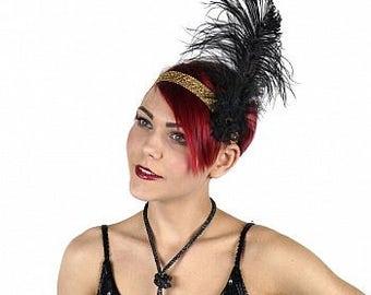 Flapper Great Gatsby Roaring 20's Feather Headband - HBDFL